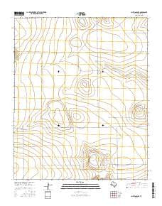 Mustang Lake Texas Current topographic map, 1:24000 scale, 7.5 X 7.5 Minute, Year 2016