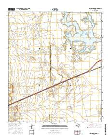 Natural Dam Lake Texas Current topographic map, 1:24000 scale, 7.5 X 7.5 Minute, Year 2016