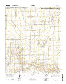 Nazareth NW Texas Current topographic map, 1:24000 scale, 7.5 X 7.5 Minute, Year 2016