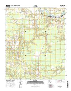 Negley Texas Current topographic map, 1:24000 scale, 7.5 X 7.5 Minute, Year 2016