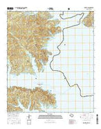 Negreet SW Texas Current topographic map, 1:24000 scale, 7.5 X 7.5 Minute, Year 2016 from Texas Map Store