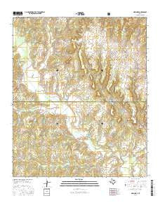 New Harp Texas Current topographic map, 1:24000 scale, 7.5 X 7.5 Minute, Year 2016
