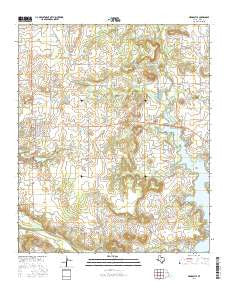 Newcastle Texas Current topographic map, 1:24000 scale, 7.5 X 7.5 Minute, Year 2016