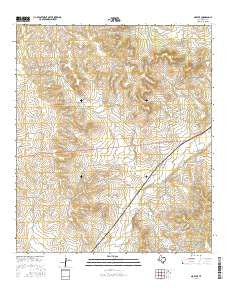 Noelke Texas Current topographic map, 1:24000 scale, 7.5 X 7.5 Minute, Year 2016