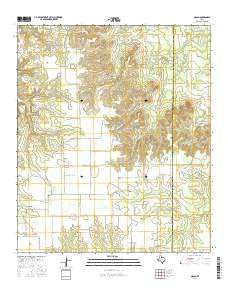 Nolan Texas Current topographic map, 1:24000 scale, 7.5 X 7.5 Minute, Year 2016