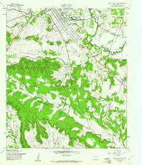 North Fort Hood Texas Historical topographic map, 1:24000 scale, 7.5 X 7.5 Minute, Year 1958