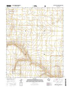 North of Red Cow Draw Texas Current topographic map, 1:24000 scale, 7.5 X 7.5 Minute, Year 2016