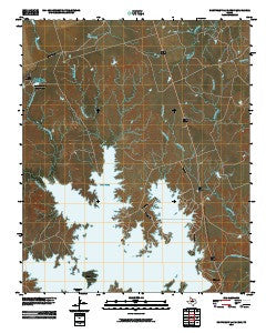 Northeast Lake Kemp Texas Historical topographic map, 1:24000 scale, 7.5 X 7.5 Minute, Year 2010