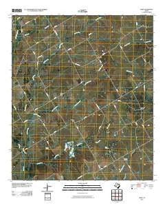 Odds Texas Historical topographic map, 1:24000 scale, 7.5 X 7.5 Minute, Year 2010