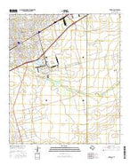 Odessa SE Texas Current topographic map, 1:24000 scale, 7.5 X 7.5 Minute, Year 2016 from Texas Map Store