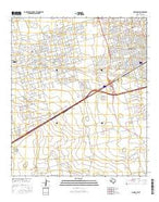 Odessa SW Texas Current topographic map, 1:24000 scale, 7.5 X 7.5 Minute, Year 2016 from Texas Map Store
