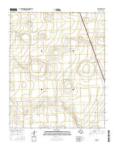 Ogg Texas Current topographic map, 1:24000 scale, 7.5 X 7.5 Minute, Year 2016