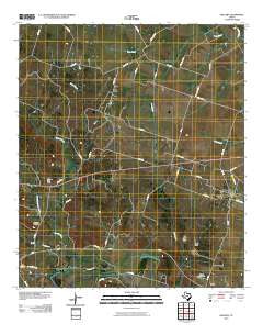 Oglesby Texas Historical topographic map, 1:24000 scale, 7.5 X 7.5 Minute, Year 2010
