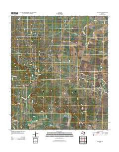 Oglesby Texas Historical topographic map, 1:24000 scale, 7.5 X 7.5 Minute, Year 2012