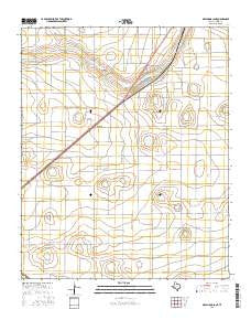 Oklahoma Lane Texas Current topographic map, 1:24000 scale, 7.5 X 7.5 Minute, Year 2016