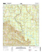 Old Center Texas Current topographic map, 1:24000 scale, 7.5 X 7.5 Minute, Year 2016 from Texas Map Store