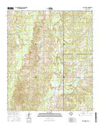 Old Panola Texas Current topographic map, 1:24000 scale, 7.5 X 7.5 Minute, Year 2016 from Texas Map Store