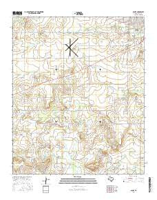 Olney Texas Current topographic map, 1:24000 scale, 7.5 X 7.5 Minute, Year 2016