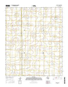 Olton NE Texas Current topographic map, 1:24000 scale, 7.5 X 7.5 Minute, Year 2016