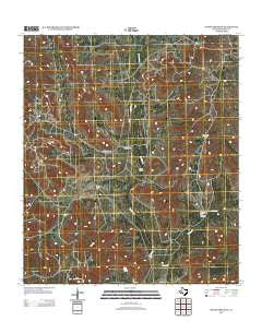 Owens Creek SW Texas Historical topographic map, 1:24000 scale, 7.5 X 7.5 Minute, Year 2012