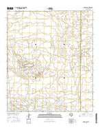 Ozark Lake Texas Current topographic map, 1:24000 scale, 7.5 X 7.5 Minute, Year 2016 from Texas Map Store