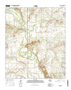 Padgett Texas Current topographic map, 1:24000 scale, 7.5 X 7.5 Minute, Year 2016