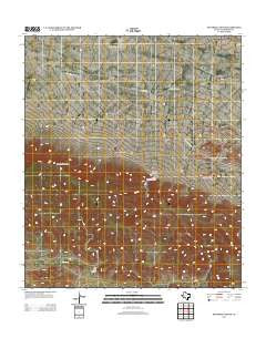 Panther Canyon Texas Historical topographic map, 1:24000 scale, 7.5 X 7.5 Minute, Year 2012