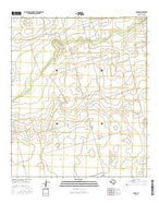 Parks Texas Current topographic map, 1:24000 scale, 7.5 X 7.5 Minute, Year 2016 from Texas Map Store