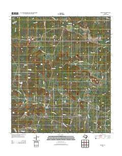 Pearl Texas Historical topographic map, 1:24000 scale, 7.5 X 7.5 Minute, Year 2012