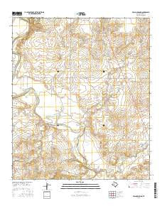 Pecan Crossing Texas Current topographic map, 1:24000 scale, 7.5 X 7.5 Minute, Year 2016