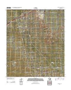 Penwell Texas Historical topographic map, 1:24000 scale, 7.5 X 7.5 Minute, Year 2012