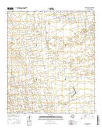 Penwell SE Texas Current topographic map, 1:24000 scale, 7.5 X 7.5 Minute, Year 2016 from Texas Map Store