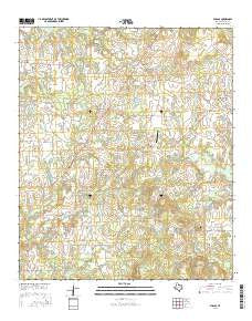 Phalba Texas Current topographic map, 1:24000 scale, 7.5 X 7.5 Minute, Year 2016