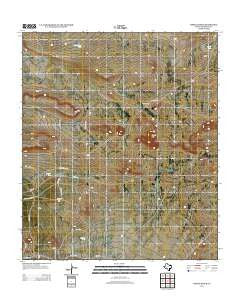Pierce Ranch Texas Historical topographic map, 1:24000 scale, 7.5 X 7.5 Minute, Year 2012