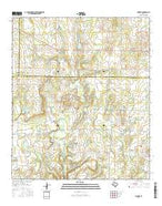 Pioneer Texas Current topographic map, 1:24000 scale, 7.5 X 7.5 Minute, Year 2016 from Texas Map Store