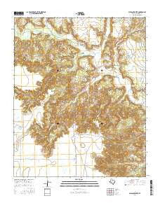 Pleasant Creek Texas Current topographic map, 1:24000 scale, 7.5 X 7.5 Minute, Year 2016