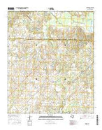 Poetry Texas Current topographic map, 1:24000 scale, 7.5 X 7.5 Minute, Year 2016 from Texas Map Store