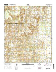 Poke Mountain Texas Current topographic map, 1:24000 scale, 7.5 X 7.5 Minute, Year 2016