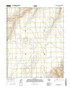 Pollard Creek NE Texas Current topographic map, 1:24000 scale, 7.5 X 7.5 Minute, Year 2016