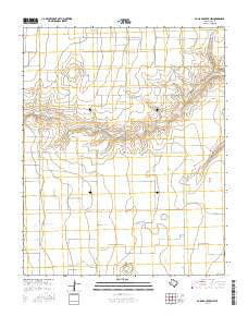 Pollard Creek NW Texas Current topographic map, 1:24000 scale, 7.5 X 7.5 Minute, Year 2016