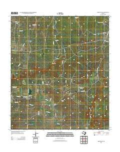 Pontotoc Texas Historical topographic map, 1:24000 scale, 7.5 X 7.5 Minute, Year 2012
