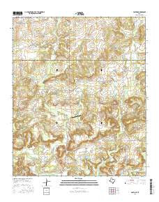 Postoak Texas Current topographic map, 1:24000 scale, 7.5 X 7.5 Minute, Year 2016