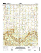 Potosi Texas Current topographic map, 1:24000 scale, 7.5 X 7.5 Minute, Year 2016 from Texas Map Store
