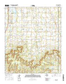 Potosi Texas Current topographic map, 1:24000 scale, 7.5 X 7.5 Minute, Year 2016