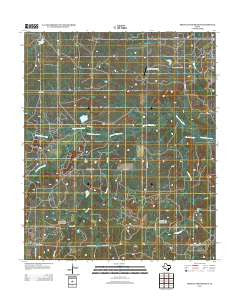 Prickly Pear Branch Texas Historical topographic map, 1:24000 scale, 7.5 X 7.5 Minute, Year 2012