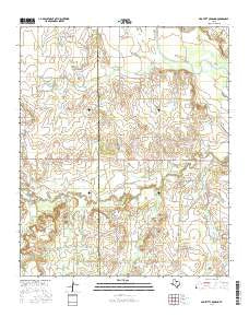 Proffitt Crossing Texas Current topographic map, 1:24000 scale, 7.5 X 7.5 Minute, Year 2016