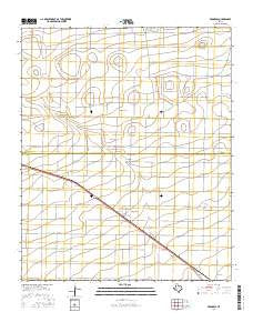 Progress Texas Current topographic map, 1:24000 scale, 7.5 X 7.5 Minute, Year 2016