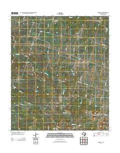 Purmela Texas Historical topographic map, 1:24000 scale, 7.5 X 7.5 Minute, Year 2012