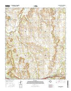 Putnam North Texas Current topographic map, 1:24000 scale, 7.5 X 7.5 Minute, Year 2016 from Texas Map Store