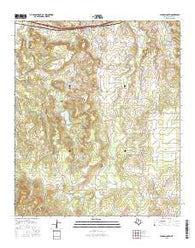 Putnam South Texas Current topographic map, 1:24000 scale, 7.5 X 7.5 Minute, Year 2016
